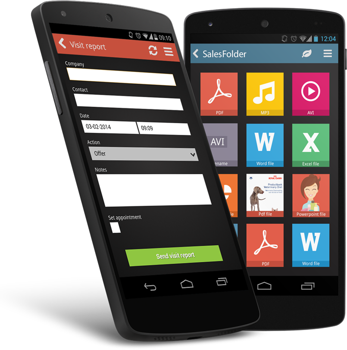 SalesRapp running on Android Nexus 5 smartphone